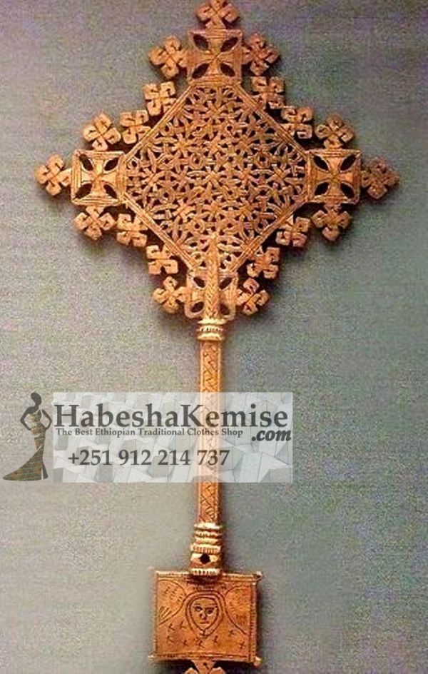 Bronze Meskel Cross Ethiopian House Decor-13