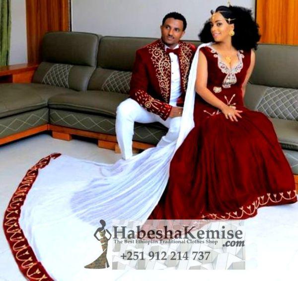 Royalty Ethiopian Traditional Dress Wedding-2