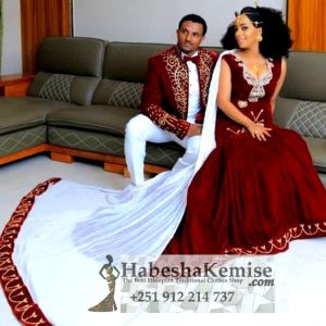 Royalty Ethiopian Traditional Dress Wedding-2