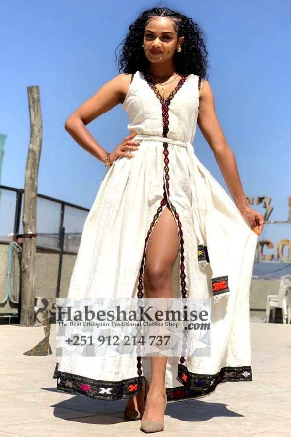 Seductive Habesha Ethiopian Traditional Clothes-67