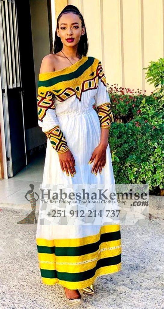 Sensual Tirsit Ethiopian Traditional Clothes-69