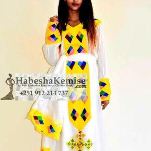 Yellow Tsai Ethiopian Traditional Dress-39