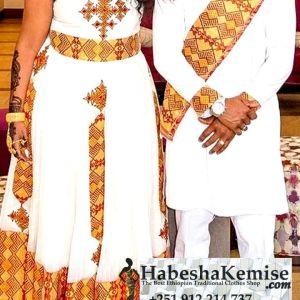 Yene Konjo Ethiopian Traditional Dress Wedding-4