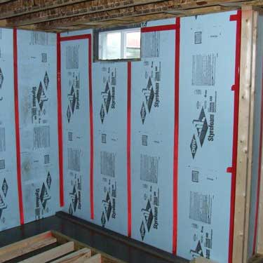 Rigid Foam Board Insulation example in Austin, Tx.