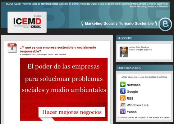 Blog de Marketing Social y Turismo Sostenible