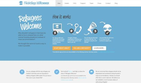 Web de refugees welcome