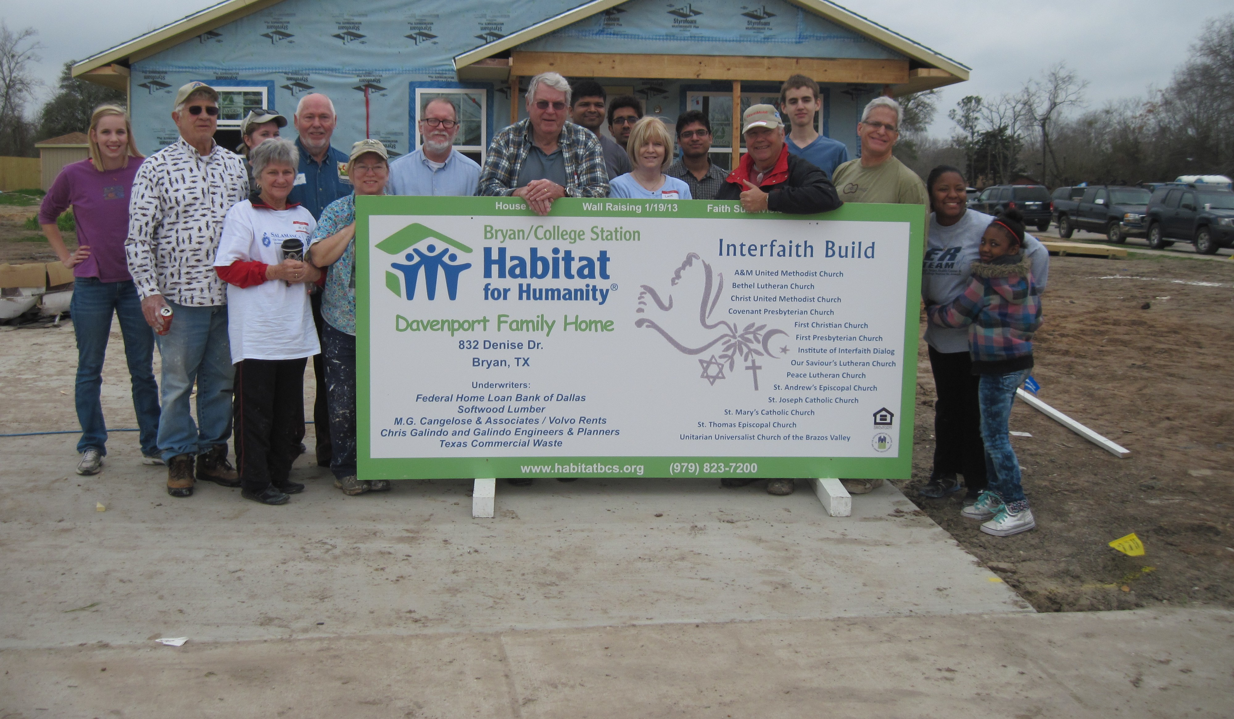 Habitat Home Built With Hammers Nails And Lots Of Faith Bcs Habitat For Humanity