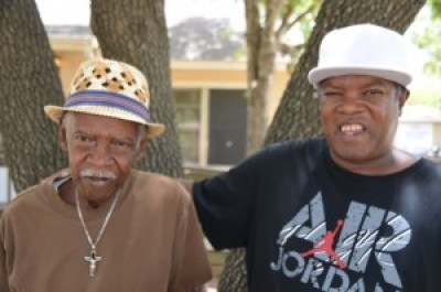 Edward Washington Sr. and Jr., future Habitat homeowners