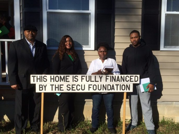 Taneshia Yakimeia Mangum's new home is financed through the State Employees Credit Union Foundation as part of SECU's Mountains to the Sea Challenge, to build a Habitat home in each of North Carolina's 100 counties.