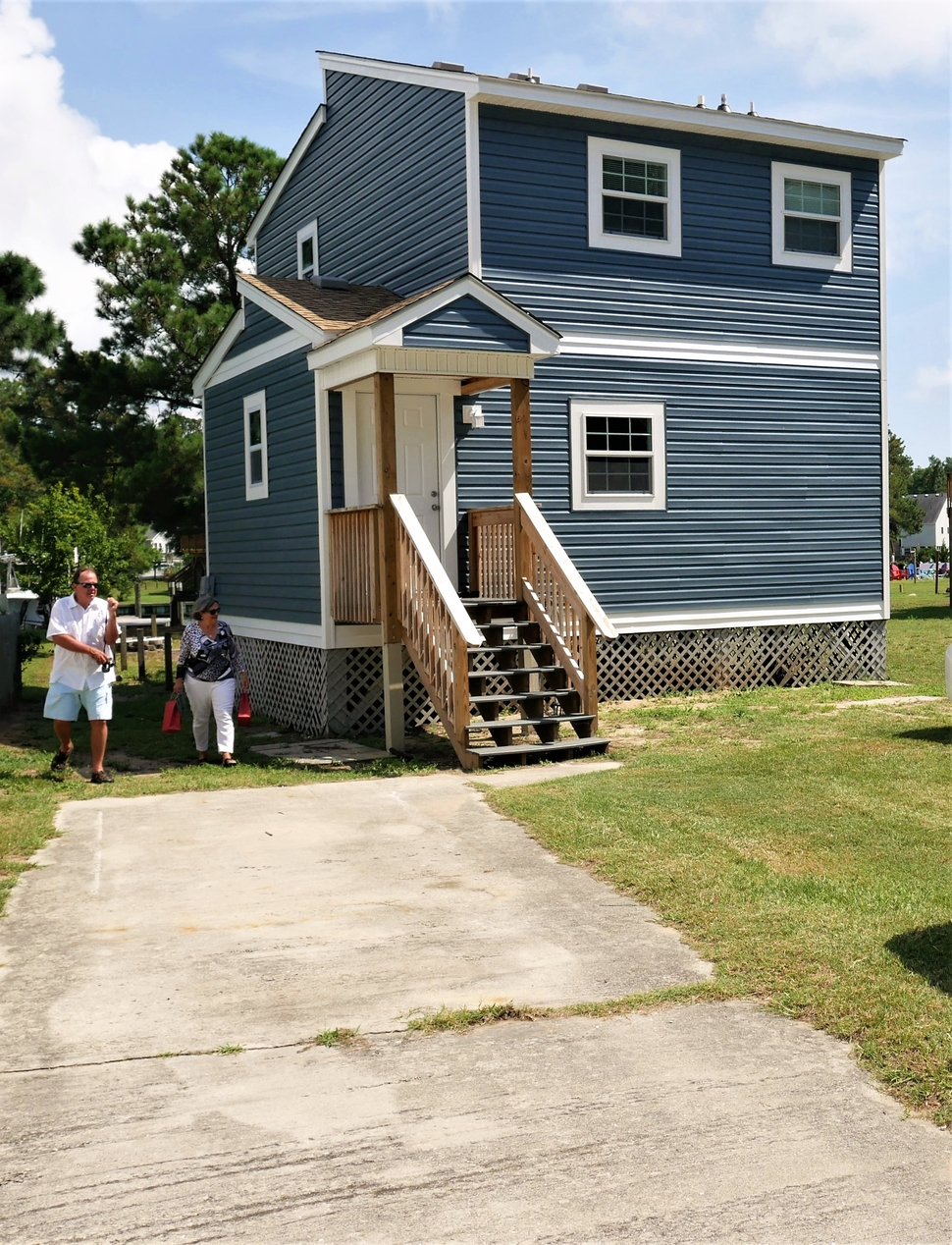The house cost more than many Habitat homes because the price of island real estate, but lots of volunteer hours for its renovation made it affordable.