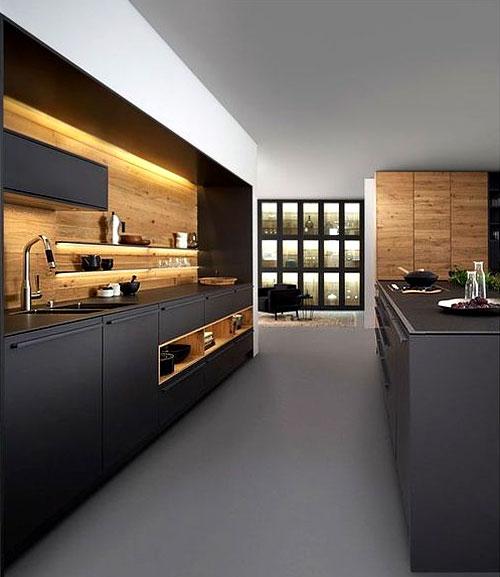 cuisine en bois 3 styles modernes a