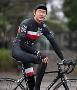 筒井道隆さん自転車