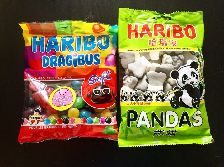 Global gummies! The left package can be found in France, while the right package can be found in China.