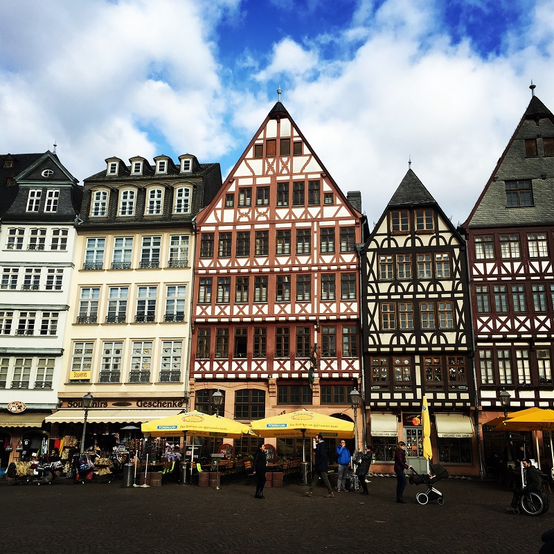 The iconic Römer of Frankfurt.