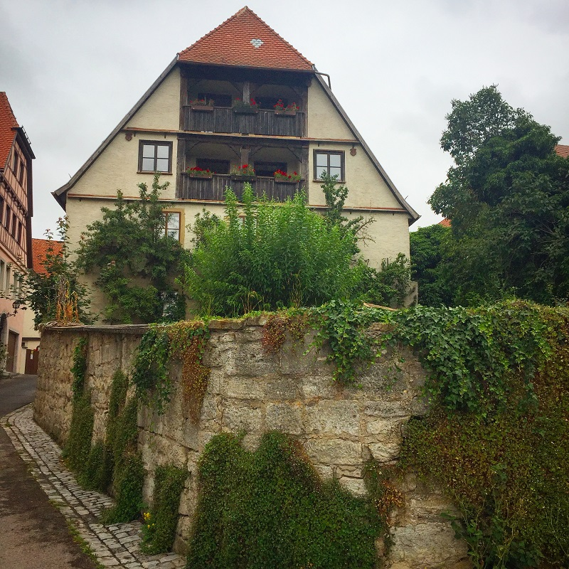 Old walls and houses.