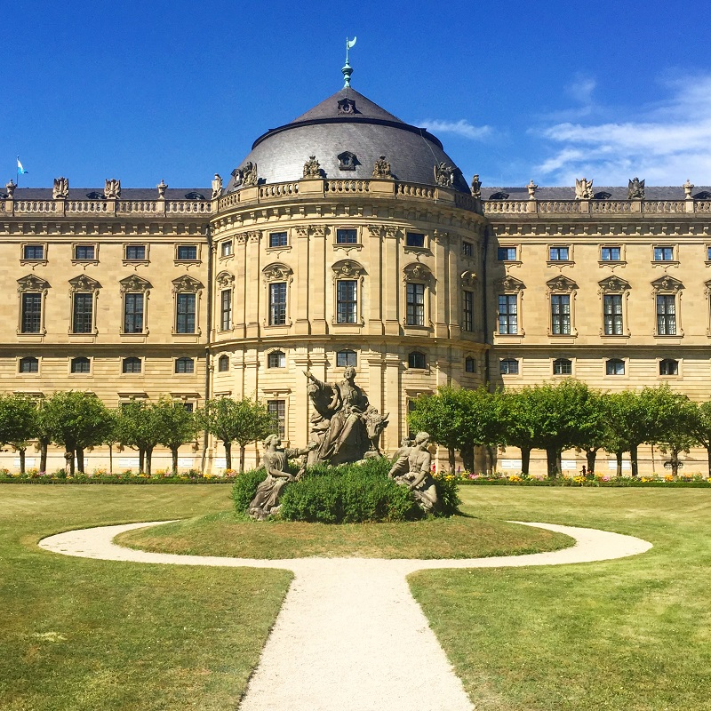 A side view of the Würzburg Residence.