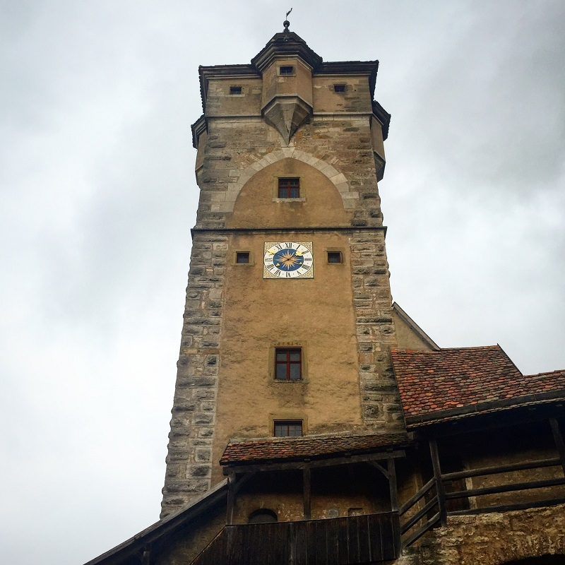 A clock tower.