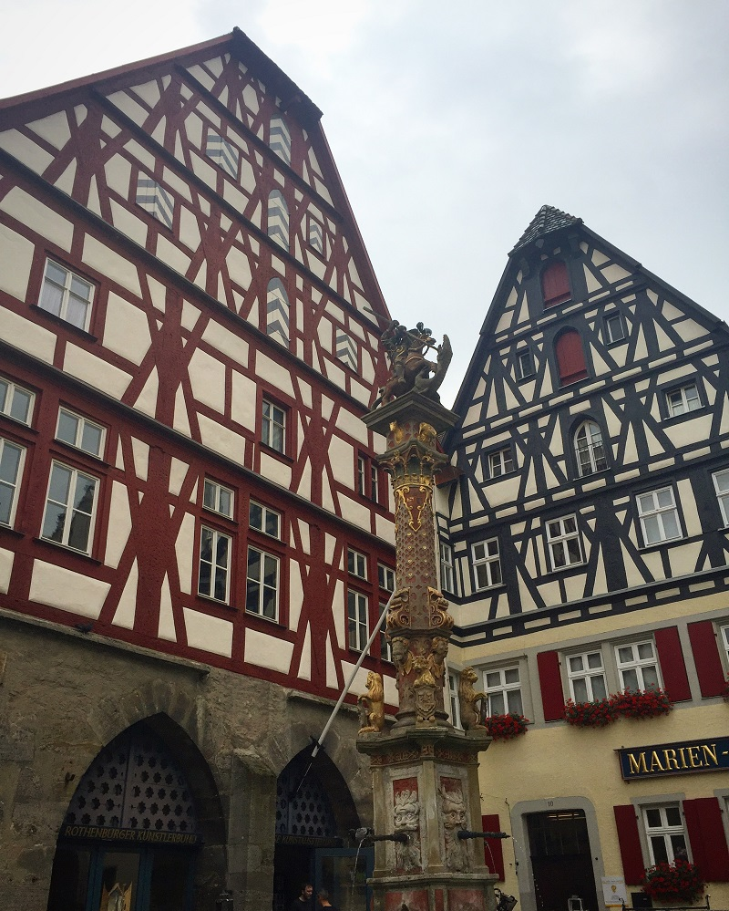 Up close and personal with the half-timbered buildings.