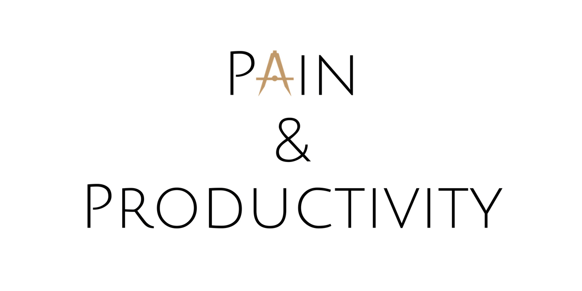 Chronic Pain and Productivity: My Story and 3 Suggestions