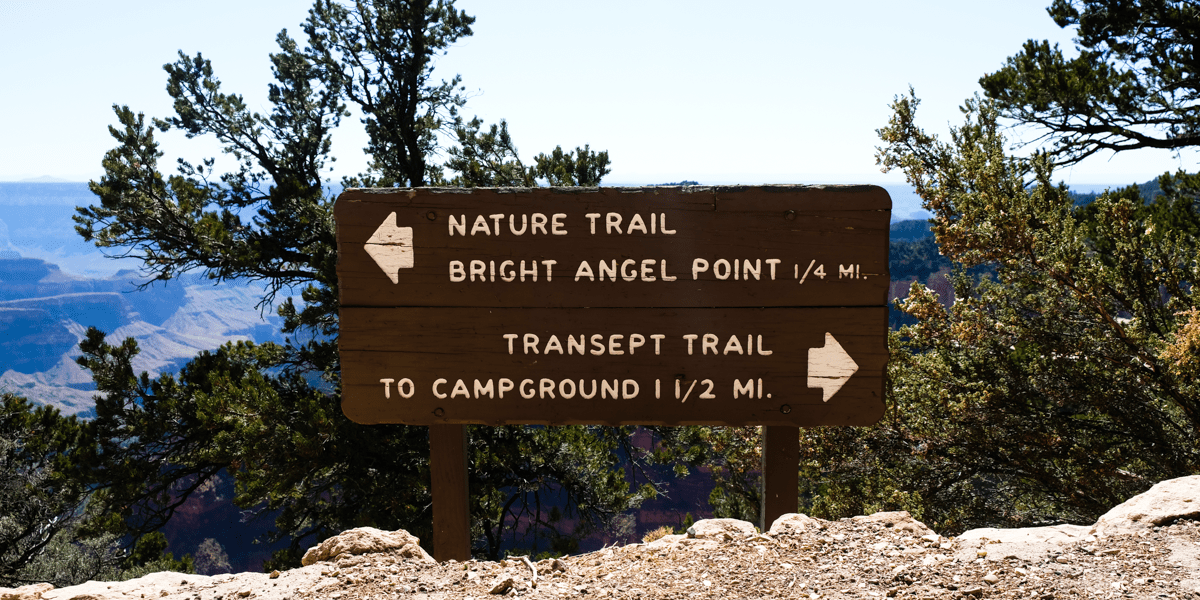 Bright Angel Point Trail in Grand Canyon National Park (North Rim)