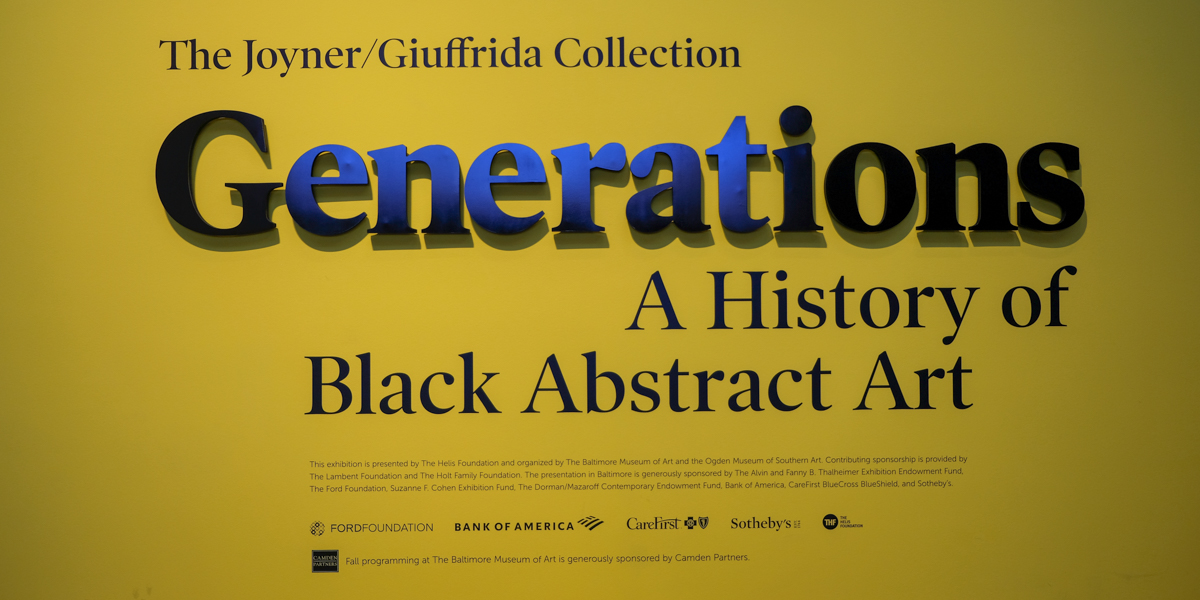 Baltimore Museum of Art's Generations Exhibit