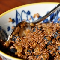 Pick-Me-Up Wheat Berry & Flax Seed Breakfast Bowl