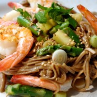 Spring Soba Noodles with Shrimp & Asparagus