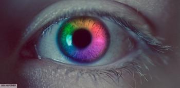 oeil multicolore