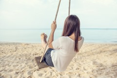 Swing in the beach