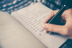 Accomplir les tâches de votre liste de choses à faire