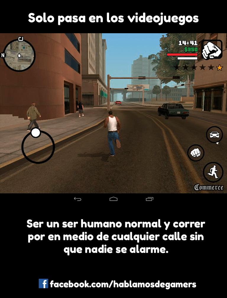 Memes de videojuegos - GTA San Andreas