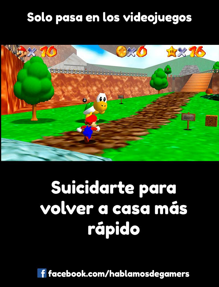 Memes de videojuegos - Super Mario 64