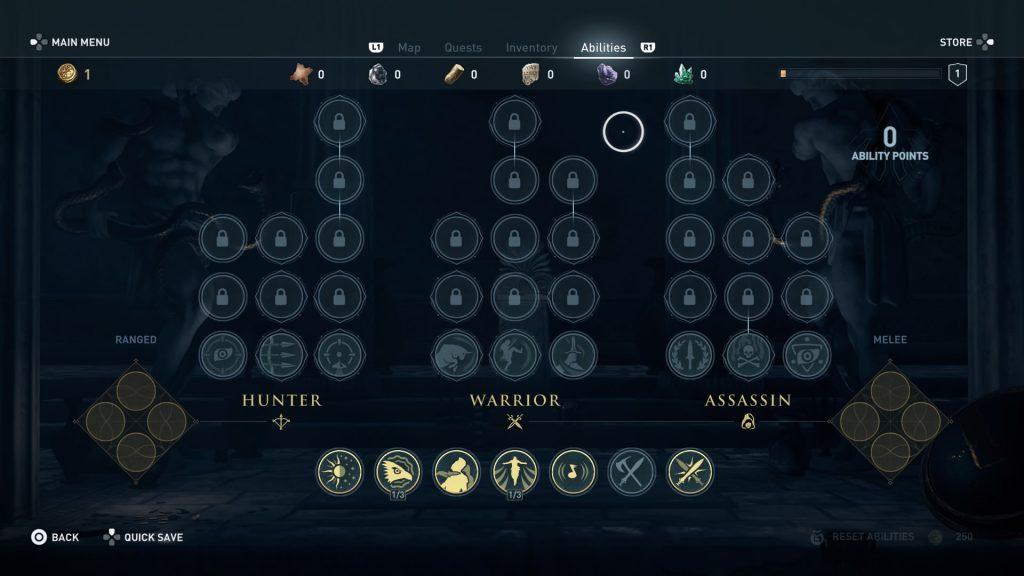 Habilidades Assassins Creed Odyssey