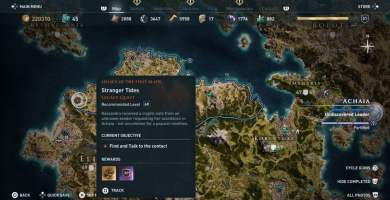 Assassin's Creed Odyssey: Activates the new DLC Legacy of the First Blade