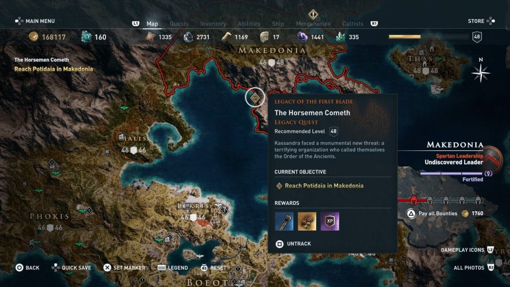 mapaAssassin's Creed Odyssey, Legacy of the First Blade