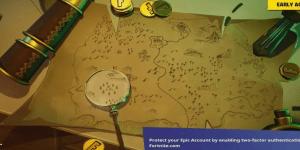 Mapa del Tesoro en Fortnite Dónde apunta el cuchillo en la pantalla de carga