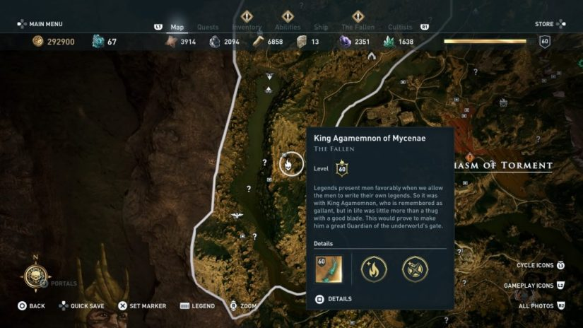 Dónde encontrar a Agamenón assassins creed odyssey