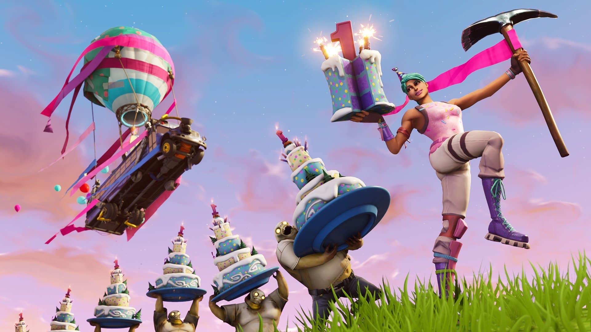 Fortnite Segundo Cumpleaños - Desafíos y Recompensas