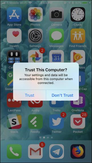 Como pasar fotos del iPhone al ordenador - paso 1