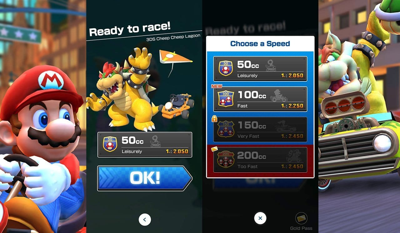 Mario Kart Tour: How to change CC - Different Displacement and Difficulty Levels