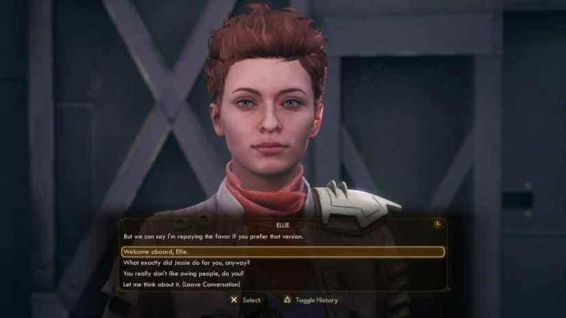 the outer worlds seguidor Ellie