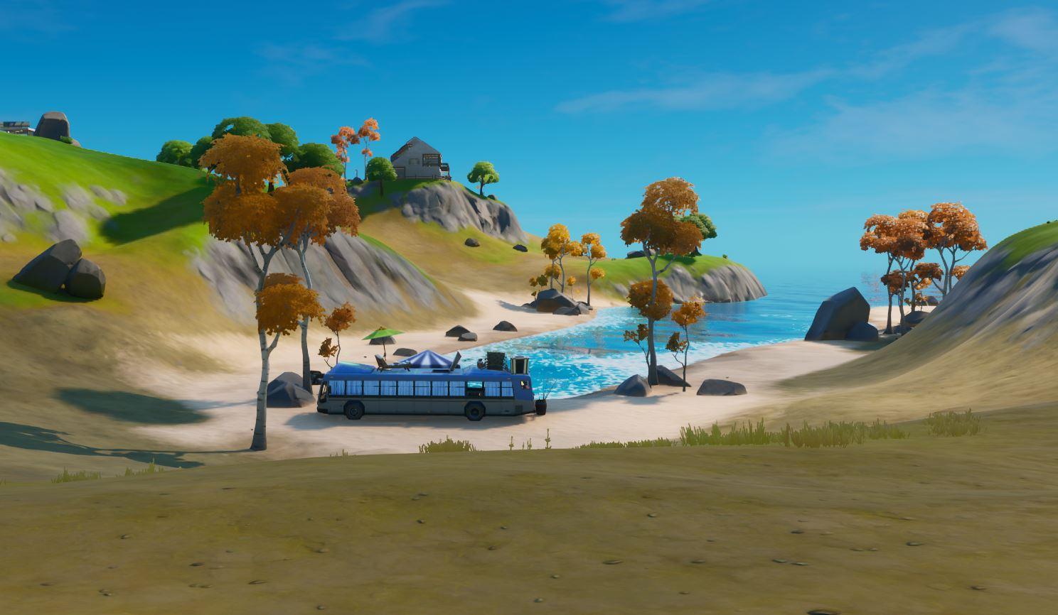 Bailar en Autobus de Playa - Fortnite