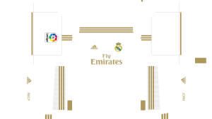 Uniforme Kit de Real Madrid y logo Real Madrid para Dream League Soccer 2020