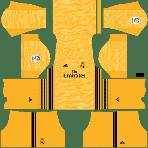 kit Real Madrid goalkeeper away – Kits de Dream League Soccer