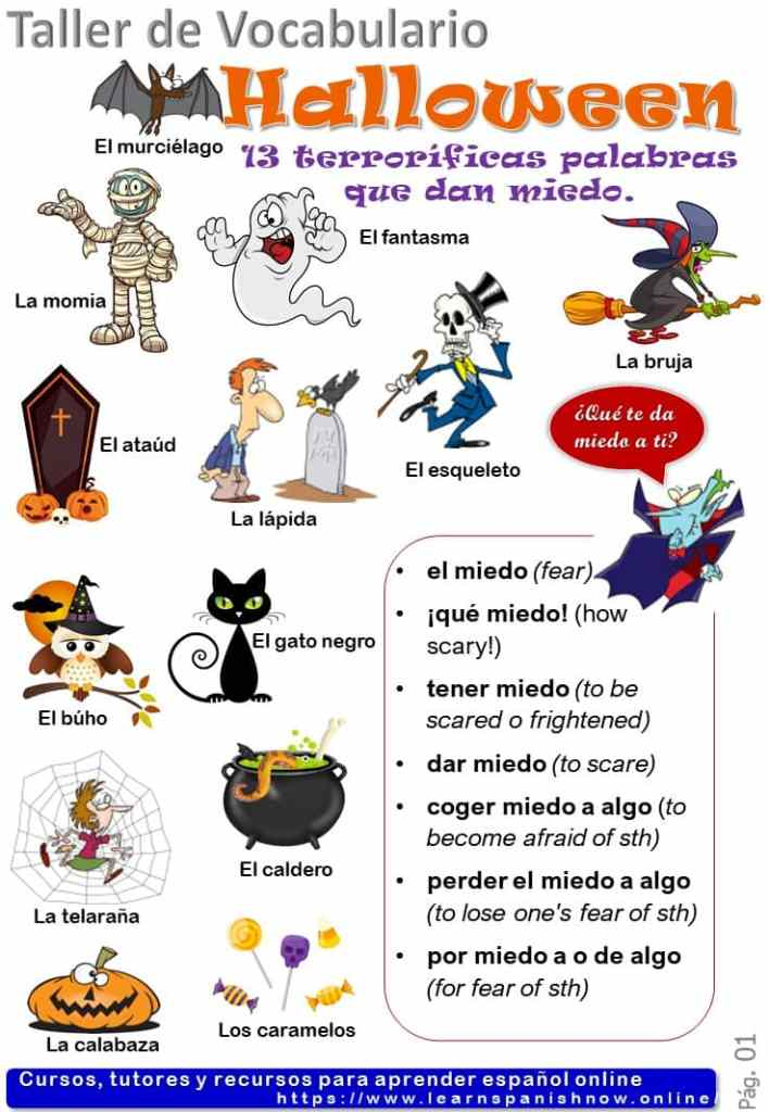 13 palabras para hablar de Halloween