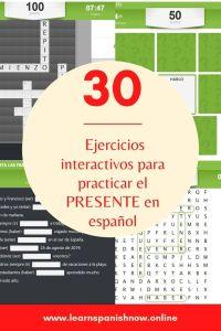 30 ejercicios para practicar el presente
