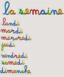 los días de la semana en francés, con ejercicios y audios