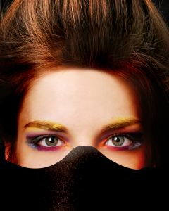 Mujer escondida