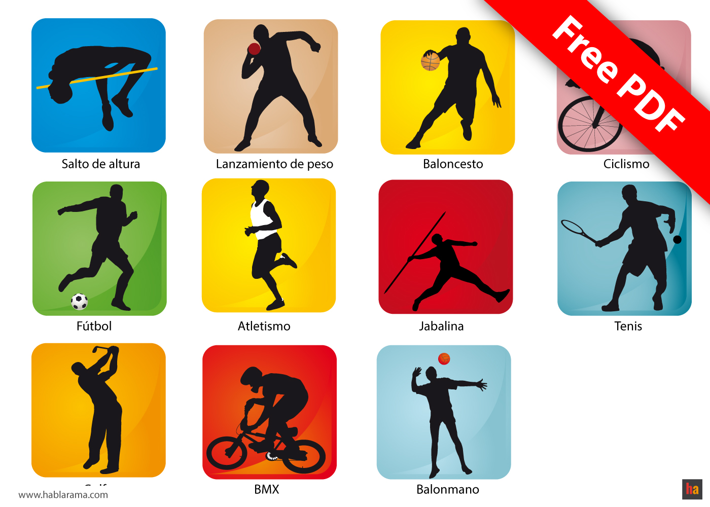 Free Spanish Vocabulary 13 Sports