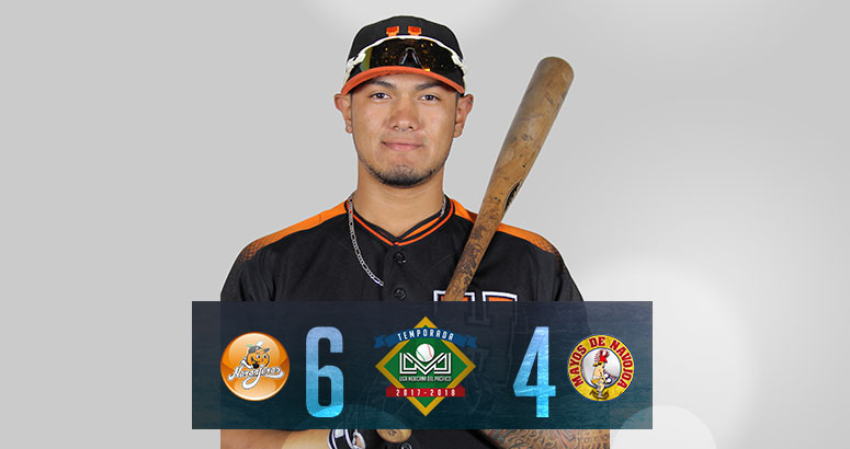Alex Flores impulsa invicto de Naranjeros